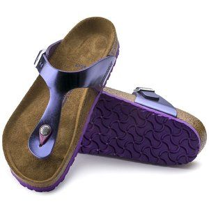 Birkenstock Gizeh Metallic violet LEATHER softbeds